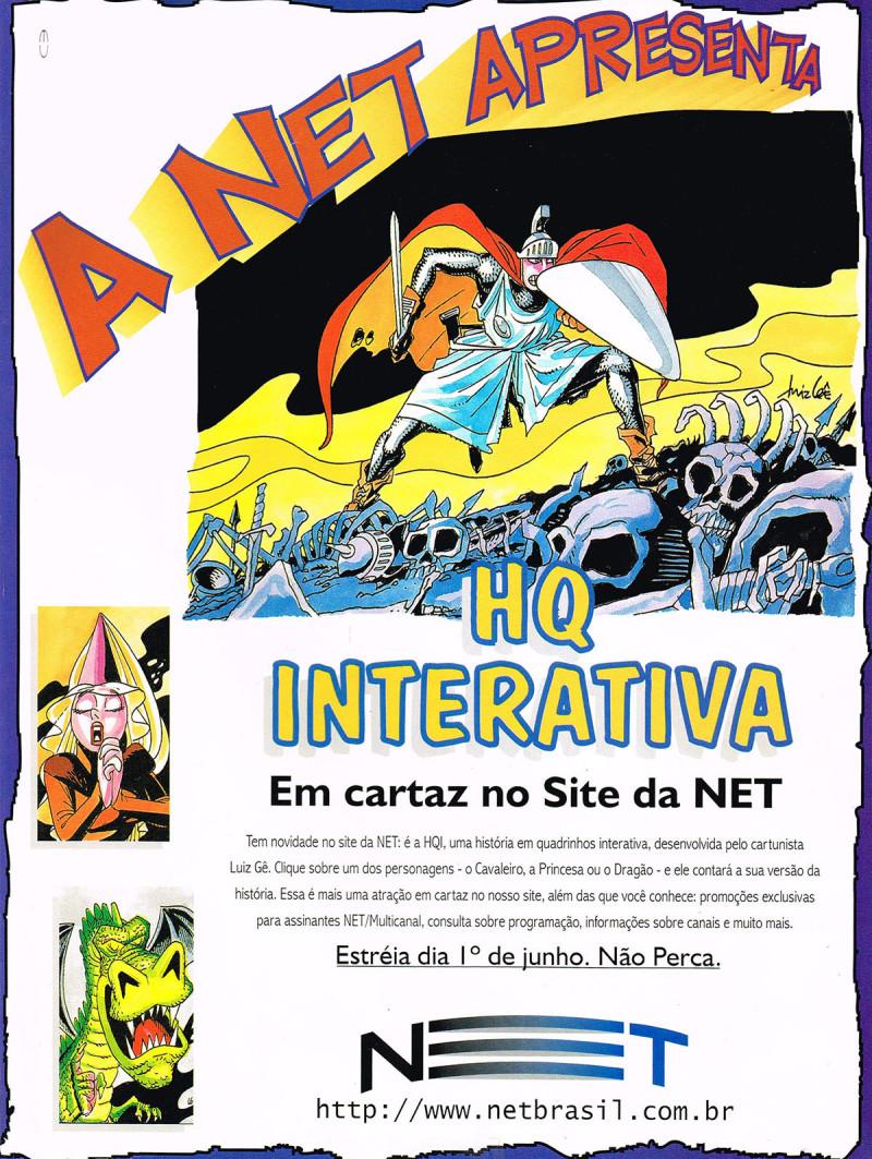 NET anuncio da HQ interativa